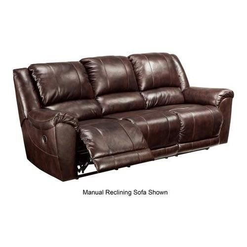 Ashley Furniture Signature Design Yancy Reclining Sofa Power Recliner Contemporary Style Walnut Reclining Sofa Power Reclining Sofa Sofa