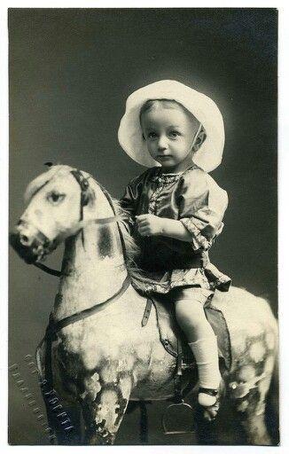 Little girl on a horse: