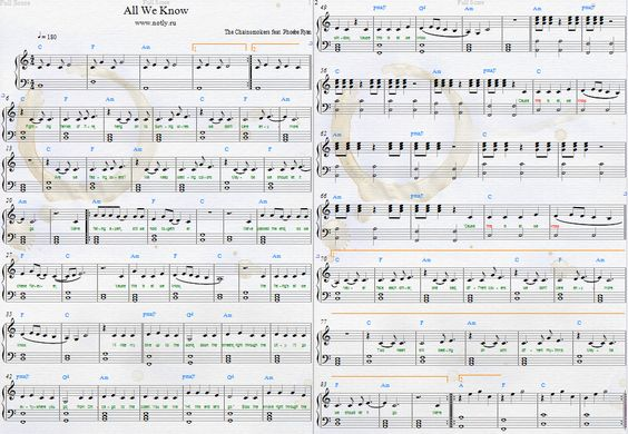 The Chainsmokers — All We Know Download PDF Piano Sheet Music. Phoebe Ryan