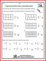 math worksheet : equivalent fractions 2 a math fraction worksheet for 4th graders  : Equivalent Fractions Worksheets 3rd Grade