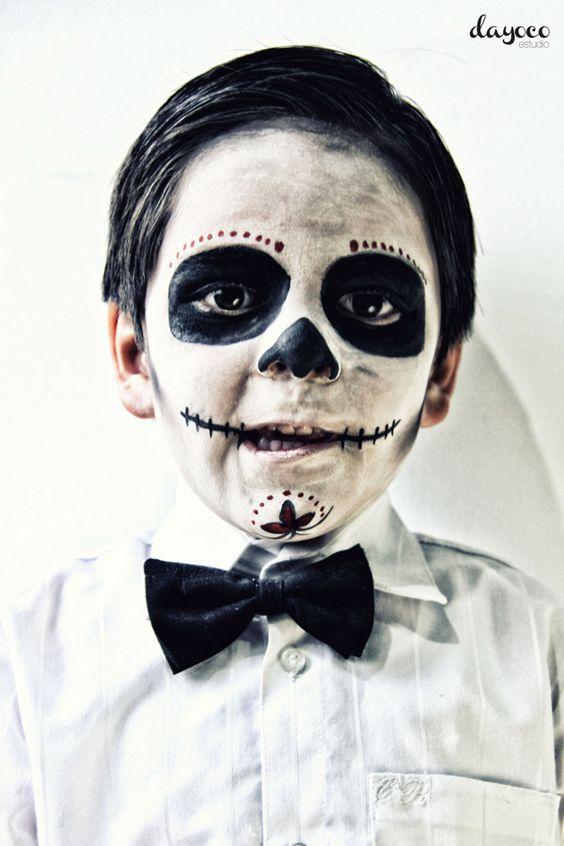 Catrinas by Dayoco Estudio, via Behance make up photoshoot kids sugarskull