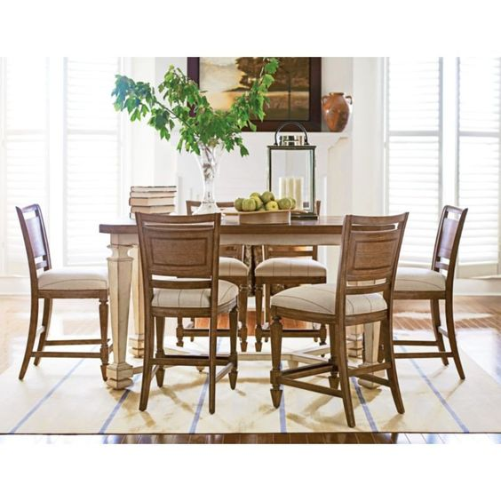 Have to have it stanley furniture classic old world 7 pc counter height dining set shoal - Furniture wereld counter ...