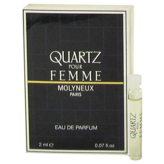 QUARTZ by Molyneux Vial (Sample) .07 oz. Launched by the design house of Molyneux in 1977, QUARTZ is classified as a refreshing, flowery fragrance. This feminine scent possesses a blend of a fresh floral with citrus notes. It is recommended for daytime wear.