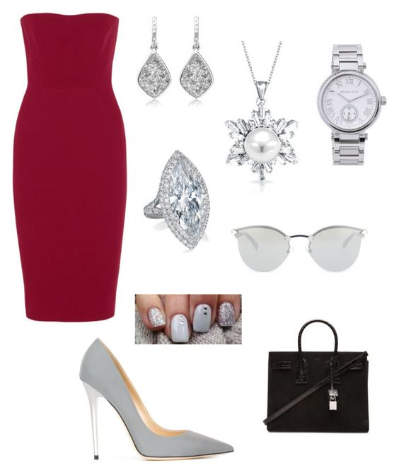 """""""Untitled #27"""" by inepinto20 ❤ liked on Polyvore featuring Victoria Beckham, Jimmy Choo, Bling Jewelry, Michael Kors, Fendi, Yves Saint Laurent, women's clothing, women, female and woman"""