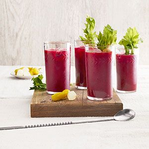 Spicy Beet Bloody Marys #countryliving #recipes #brunch