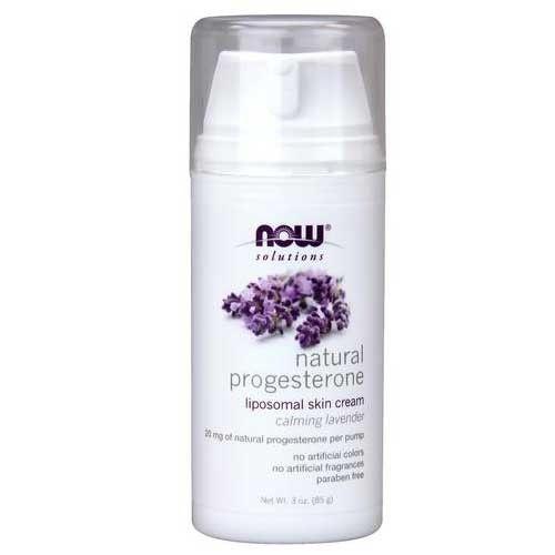 Now Foods Progesterone Cream W/Lavender 3 Oz