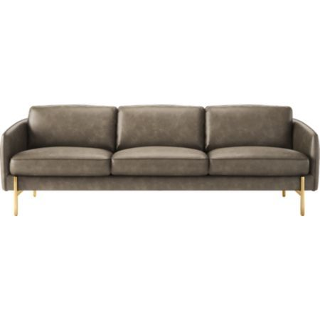 Hoxton Leather Sofa Bello Grey Reviews Cb2 In 2020 Black