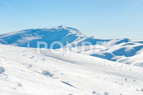 Range Of Mountains Peaks In Snow Stock Photos Ad Peaks Mountains Range Photos Mountains Winter Landscape Mountain Range