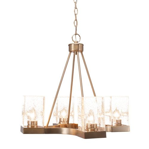 Br 22 Inch Four Light Chandeliers