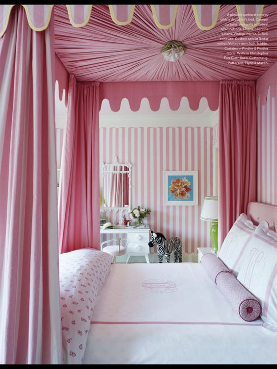 Bed Curtains canopy bed curtains for kids : Pink curtain four poster bed | Kids room | Pinterest | Shape, Four ...
