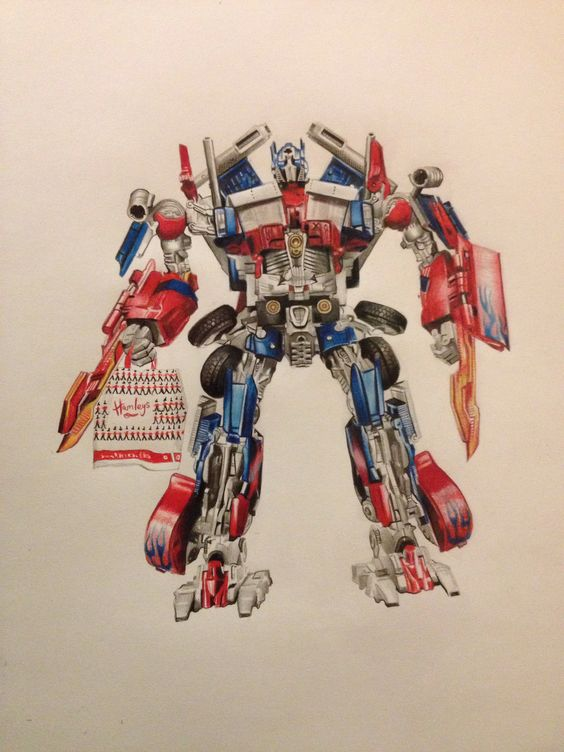 A3 drawing 'Optimus prime goes shopping' £230