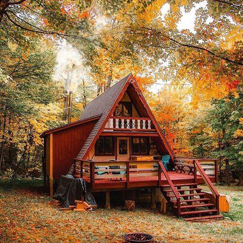 Tiny Cabin Houses Cabin Lifestyler Fotos Y Vídeos De Instagram Casas Tipo Cabaña Casas Estilo Cabaña Diseño Casas Campestres
