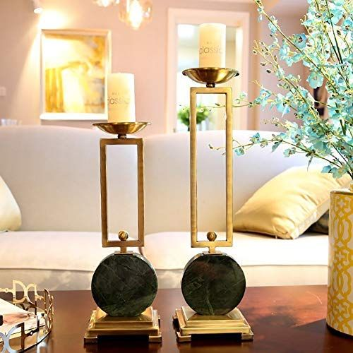Xiyunhan Candle Holder Decoration European Home Model Room Villa Decoration Ornaments Marble In 2020 Candle Holder Decor Living Room Table Candle Stick Decor