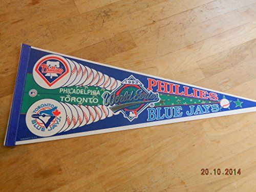 1993 Mlb World Series Baseball Pennant Toronto Blue Jays ...