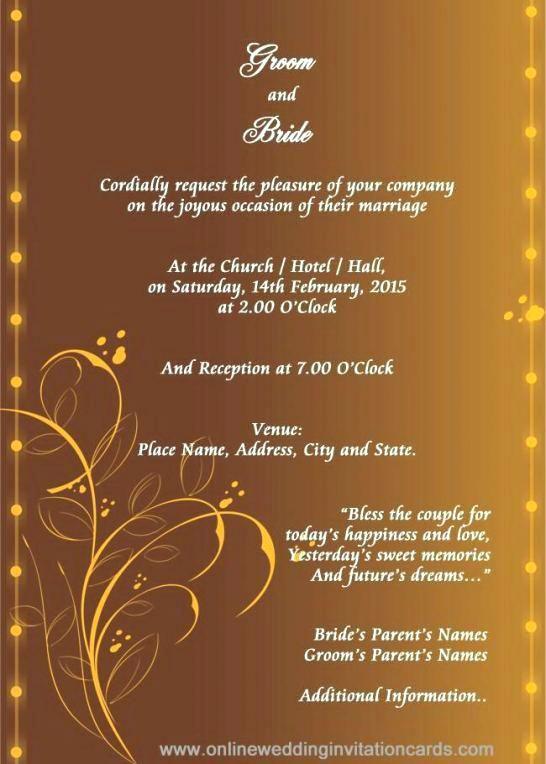 Online Wedding Invitations Maker Invitation Card