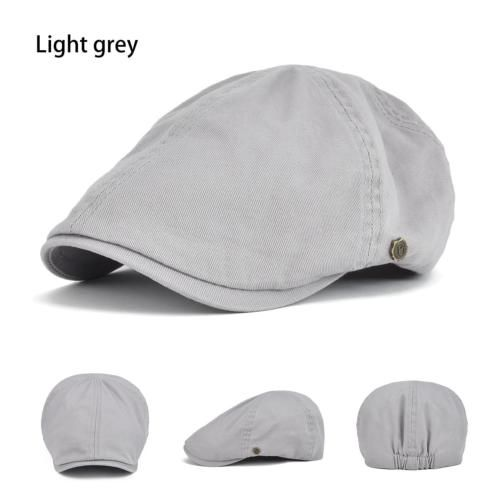 Mens Women Cotton Ivy Flat Cap Newsboy Cabbie Gatsby Driving Peaked Hat