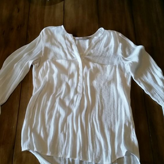 Zara blouse Once worn.. I believe it is silk but can't find materials Zara Tops Blouses