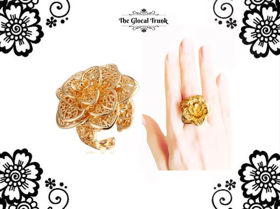 Prepping for a Sunday Brunch? Our 'Filigrina Rosette Open Ring' is your perfect accessory! Shop now: www.theglocaltrunk.com #sundaybrunch #filigreejewelry #ring #statementjewelry #costumejewellery #onlineshopping #holidayparty #floraldesign #roselover #theglocaltrunk #tgt