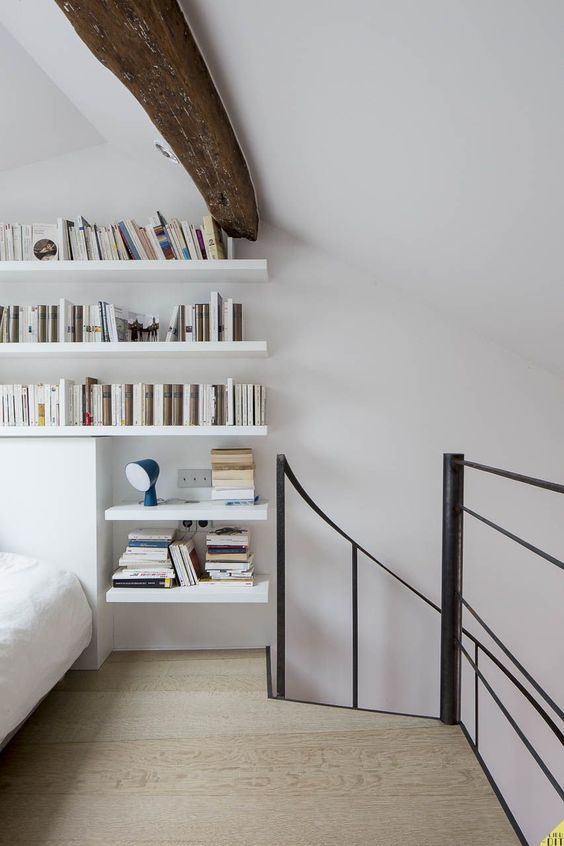 Chambre sur mezzanine Escalier en colimaçon en métal par Escaliers - escalier interieur de villa