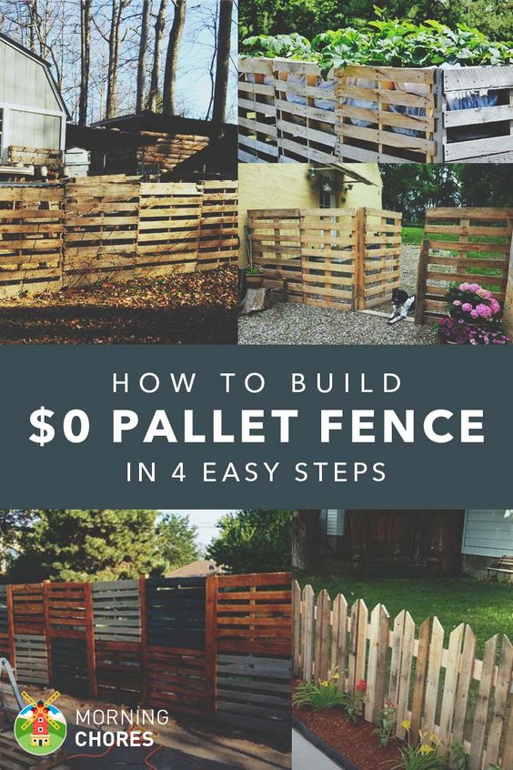How to build a pallet fence for almost 0 and 6 pallet for Wood pallet fence plans