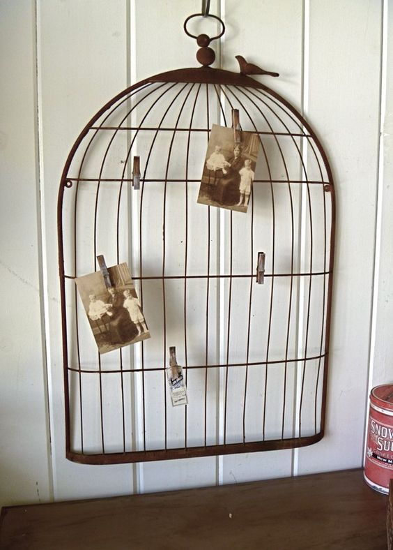 Large Wrought Iron Bird Cage Silhouette Wall by selinabeadsnbits, $42.00