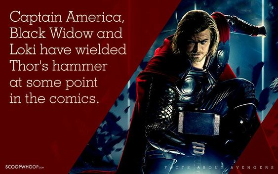 Captain America, Black Widow and Loki have wielded Thor's hammer at some point in the comics.