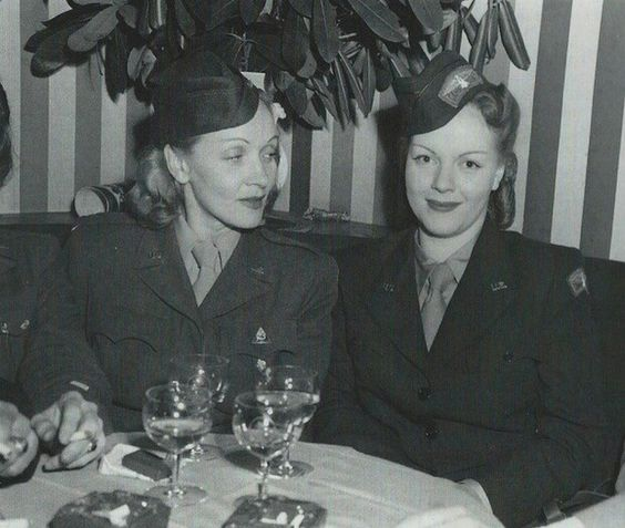 Marlene Dietrich and daughter Maria Riva: