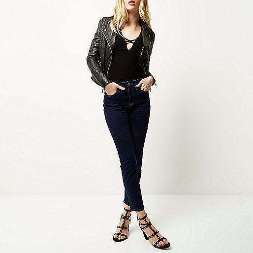 Dark blue wash high rise Lori skinny jeans - skinny jeans - jeans - women