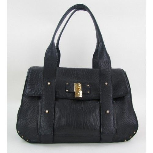 Marc Jacobs Black Leather Studded Tote Bag #MoshPosh