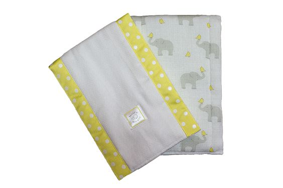 Swaddle Designs Yellow Burp Cloth - 2 Pack