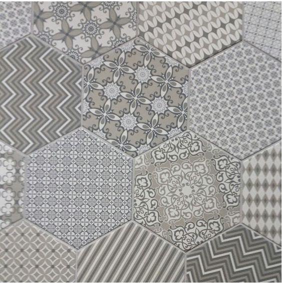 Trend Alert Monochromatic Patchwork Tile Cozy Styl
