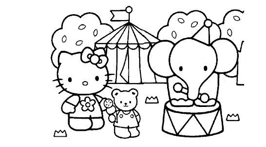 Hello Kitty Circus Coloring Pages Coloring Pages Coloring Books Printable Coloring Book