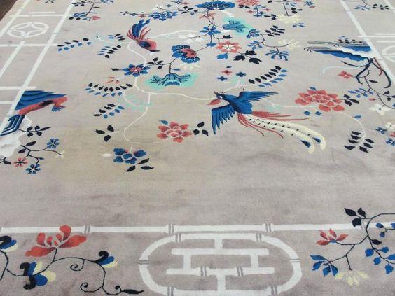 Exceptional Antique Art Deco Chinese Carpet 8