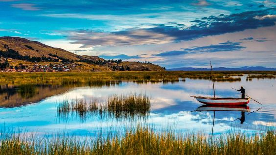Lago Titicaca (La Paz Puno, Bolivia - Perú).