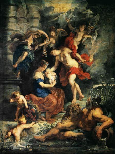 Peter Paul Rubens - Medici-Zyklus: Die Geburt der Maria deMedici.