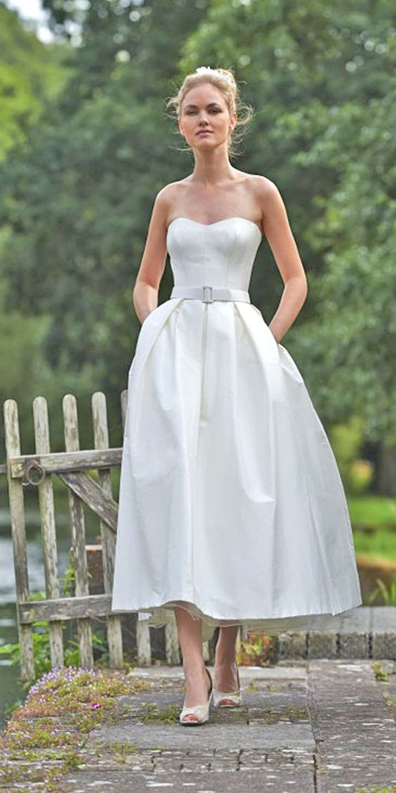 24 Gorgeous Tea Length Wedding Dresses