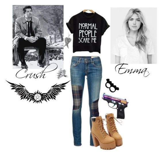 """""""Supernatural RP"""" by young-volcanoes-74 ❤ liked on Polyvore featuring rag & bone/JEAN, L'Artisan Créateur, LUSASUL and Tressa"""