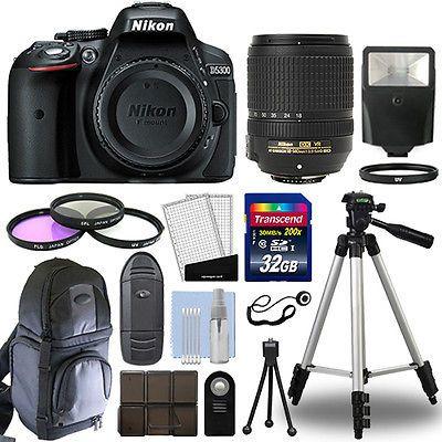 Nikon D5300 Digital SLR Camera Black  18-140mm VR Lens  32GB Bundle https://t.co/mtxuvo0fbb https://t.co/22SU1ItUCk