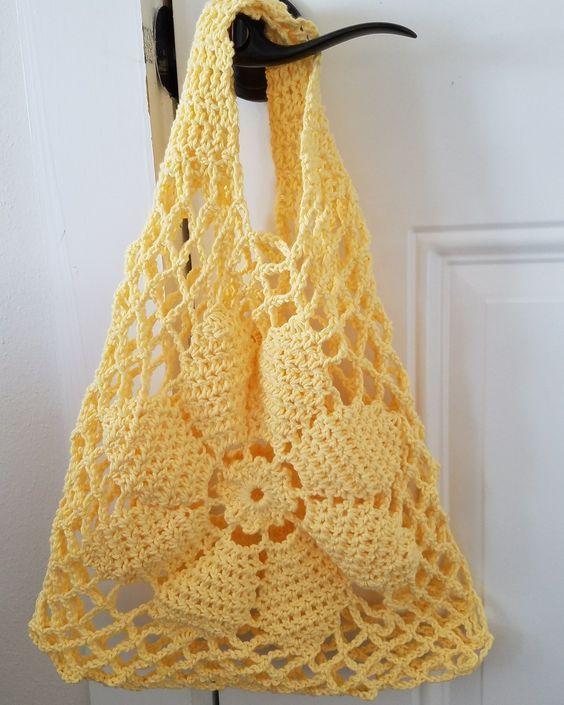 Tuto Crochet Sac Facile Tissé à Crochet Bolsos De