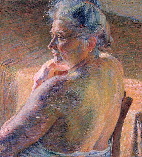 urgetocreate:  Umberto Boccioni, Nudo di spalle (Controluce), 1909