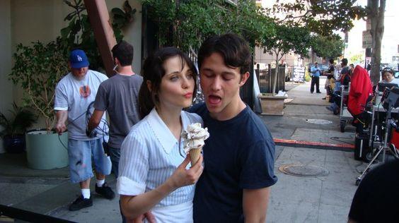 ice cream + Zooey + Joey = =D