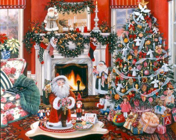 Warmth of Christmas by Susan Rios ~ indoor decor ~ Santa: