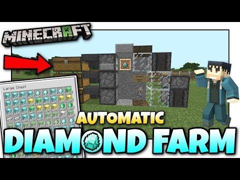 Minecraft Automatic Diamond Farm Tutorial Mcpe Xbox