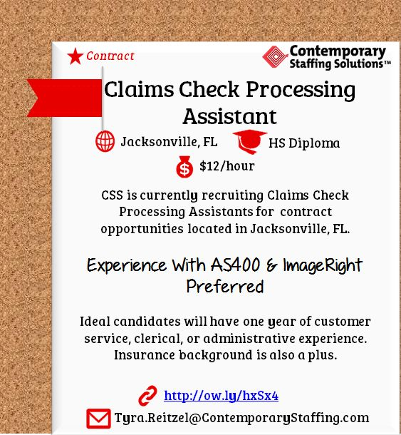 CSS is #hiring Legal Bill Review Specialists in Jacksonville, FL l - foreclosure processor sample resume