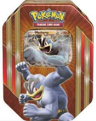Pokemon Trading Card Power Tin Machamp EX With Holo & Booster