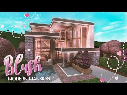 Youtube Roblox Gfx 2.8 Bloxburg Blush Modern Mansion She Speaks House Build Youtube In 2020 Modern Mansion Modern Family House Luxury House Plans