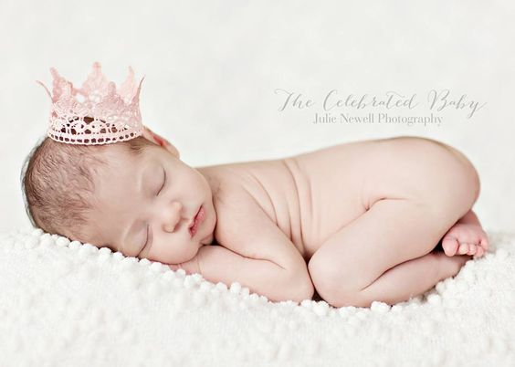 Pink Newborn Lace Crown Photography Prop: