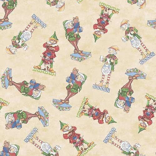Santa's Elf Quilt Backing Fabric