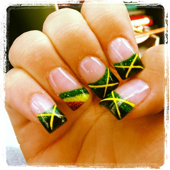 jamaican nail designs - 28 images - my rasta jamaican nails nails ...