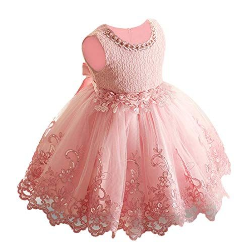 Baby Girls Princess Dress Toddler Kids Party Wedding Pageant Lace Tutu Dresses